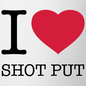 I LOVE SHOT PUT Tops - Mug