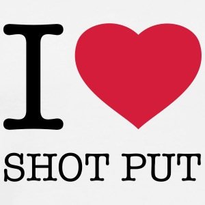 I LOVE SHOT PUT Tops - Men's Premium T-Shirt