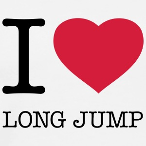 I LOVE LONG JUMP - Männer Premium T-Shirt