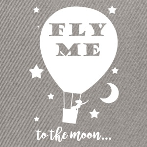 Sweat femme Fly me to the moon gris - Casquette snapback