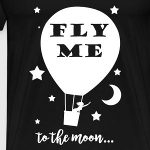 Sweat femme Fly me to the moon noir - T-shirt Premium Homme