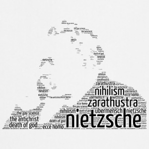 nietzsche stencil word cloud - Cooking Apron