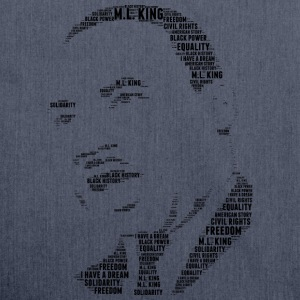 martin luther king stencil word cloud - Shoulder Bag made from recycled material