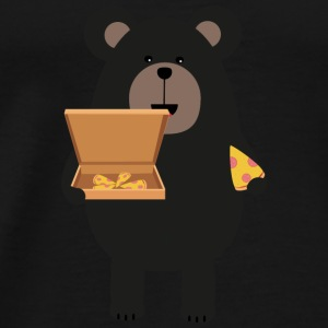 Black bear with pizza Baby Long Sleeve Shirts - Men's Premium T-Shirt