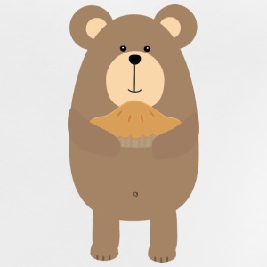 Brown bear taart Shirts - Baby T-shirt