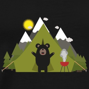 Grizzly bears camping Bags & Backpacks - Men's Premium T-Shirt