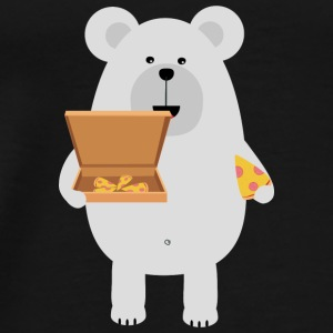 Eat polar bear, pizza Bags & Backpacks - Men's Premium T-Shirt