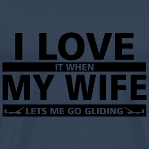 i love my wife gliding Long sleeve shirts - Men's Premium T-Shirt