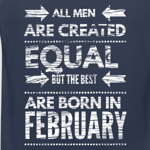 Birthday design born in february Long Sleeve Shirts - Men's Premium Tank Top