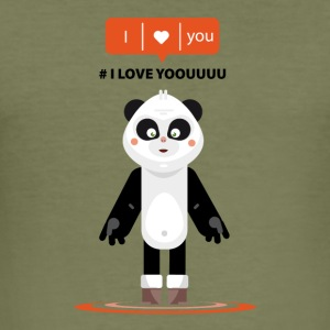 panda i love yoouuu ! - Slim Fit T-shirt herr