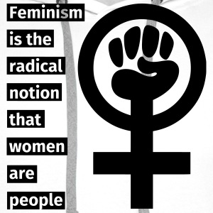 Feminism is the radical notion that women are peop T-shirts - Premiumluvtröja herr