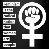 Feminism is the radical notion that women are peop Muggar & tillbehör - Enfärgad mugg