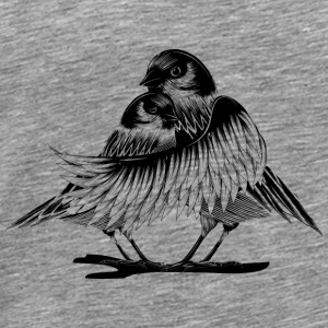 Two enamored birds Tops - Men's Premium T-Shirt