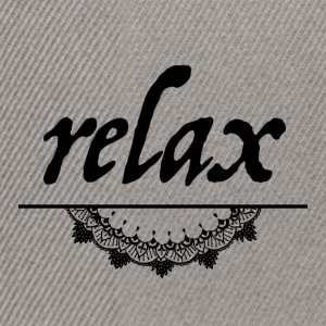 Relax - Casquette snapback