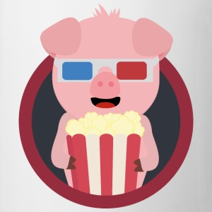 Cinema-pig with popcorn Baby Long Sleeve Shirts - Mug