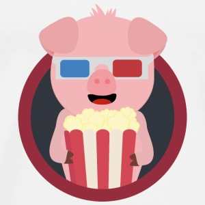 Cinema-pig with popcorn Baby Long Sleeve Shirts - Men's Premium T-Shirt