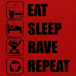Eat,sleep,rave,repeat Party T-shirt - Gorra Snapback