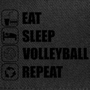 Eat Sleep Volleyball Repeeat,Volley t-shirt  - Snapback Cap
