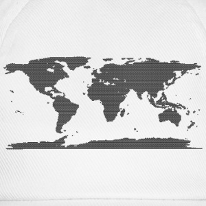 Cool Map of the World design - Baseball Cap