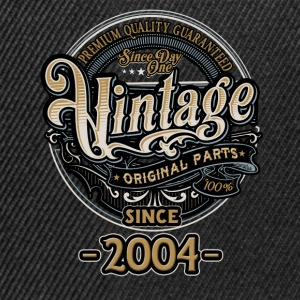 Day One Vintage since 2004 - Original Parts RAHMENLOS Birthday T-Shirts - Snapback Cap
