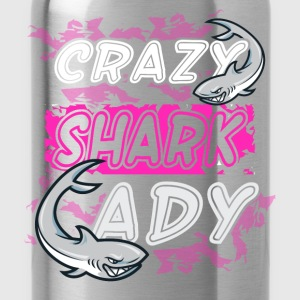 Crazy shark lady - Water Bottle
