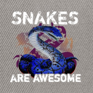Snakes are awesome  - Snapback Cap