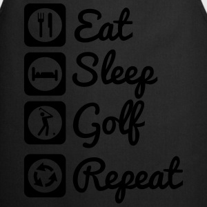 Eat sleep golf repeat  Tee shirts - Tablier de cuisine