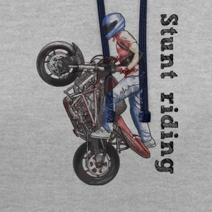 Stunt riding T-shirts - Contrast hoodie