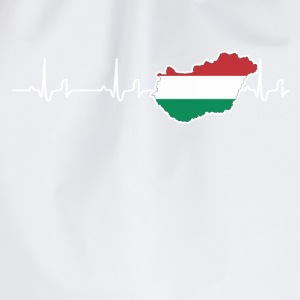 Heartbeat - Hungary T-Shirts - Drawstring Bag