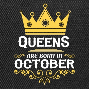 Queens are born in October Long Sleeve Shirts - Snapback Cap