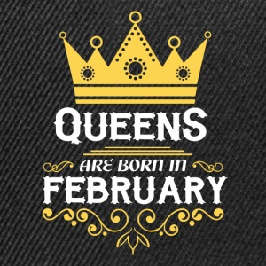 Queens are born in February Long Sleeve Shirts - Snapback Cap