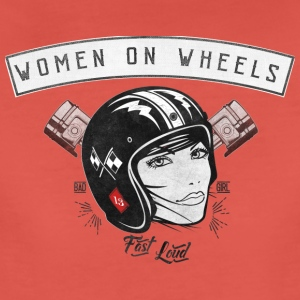 Woman On Wheels Tops - Frauen Premium T-Shirt