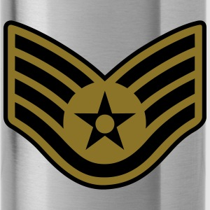 Staff Sergeant SSgt, Air Force, Mision Militar ™ T-Shirts - Trinkflasche