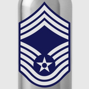 Chief Master Sergeant CMSgt, Mision Militar ™ T-Shirts - Trinkflasche