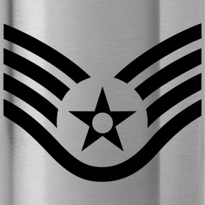 Staff Sergeant SSgt, US Air Force, Mision Militar T-Shirts - Trinkflasche