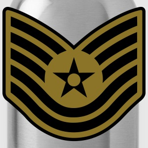 Technical Sergeant TSgt, Air Force, Mision Militar T-Shirts - Trinkflasche