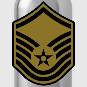 Master Sergeant MSgt, Air Force, Mision Militar ™ T-Shirts - Trinkflasche