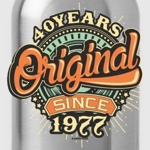 40 Years Original since 1977 - RAHMENLOS Birthday Shirt Design T-Shirts - Trinkflasche