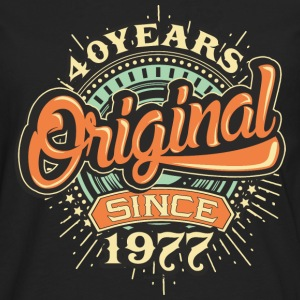 40 Years Original since 1977 - RAHMENLOS Birthday Shirt Design T-Shirts - Männer Premium Langarmshirt