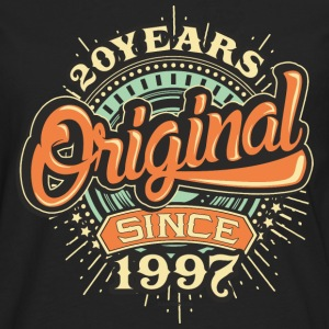 20 Years Original since 1997 - RAHMENLOS Birthday Shirt Design T-Shirts - Männer Premium Langarmshirt