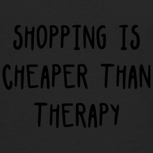 Shopping is cheaper than therapy Sacs et sacs à dos - T-shirt manches longues Premium Homme