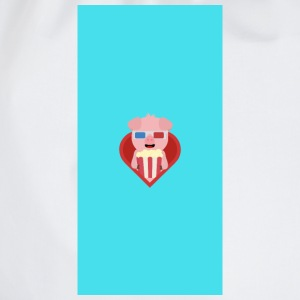 Cinema-pig with popcorn in the heart - case Other - Drawstring Bag