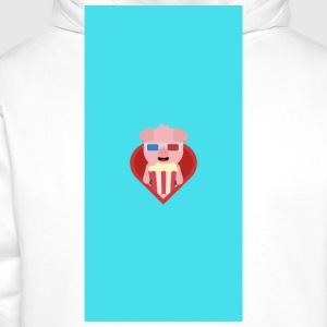 Cinema-pig with popcorn in the heart - case Other - Men's Premium Hoodie