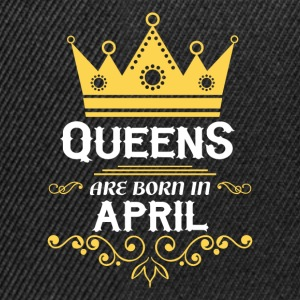 Queens are born in April Long Sleeve Shirts - Snapback Cap