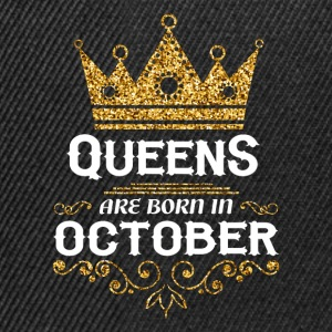 Queens are born in October T-Shirts - Snapback Cap