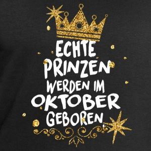 Real princes are born in October T-Shirts - Men's Sweatshirt by Stanley & Stella