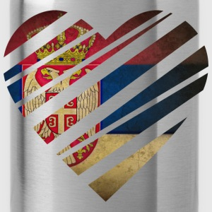 Serbia Heart T-Shirts - Trinkflasche