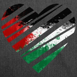 Palestine Heart T-Shirts - Schultertasche aus Recycling-Material
