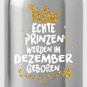 Real princes are born in December Shirts - Water Bottle