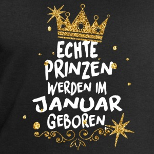 Real princes are born in January T-Shirts - Men's Sweatshirt by Stanley & Stella
